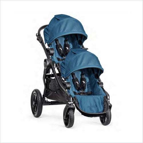 Baby Jogger City Select Black Baby Stroller and Second Seat Set in Teal