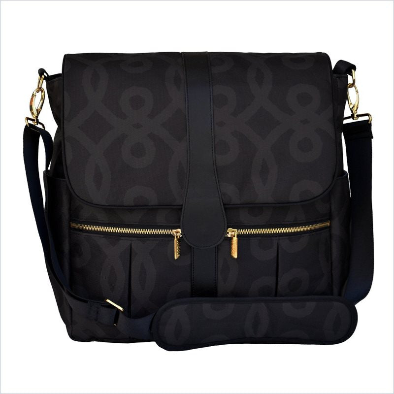 JJ Cole Backpack Diaper Bag In Black And Gold
