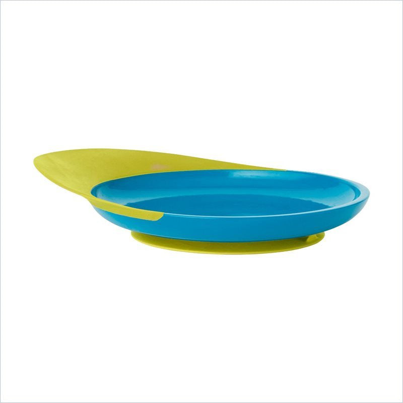 Boon Catch Plate with Spill Catcher in Blue and Green