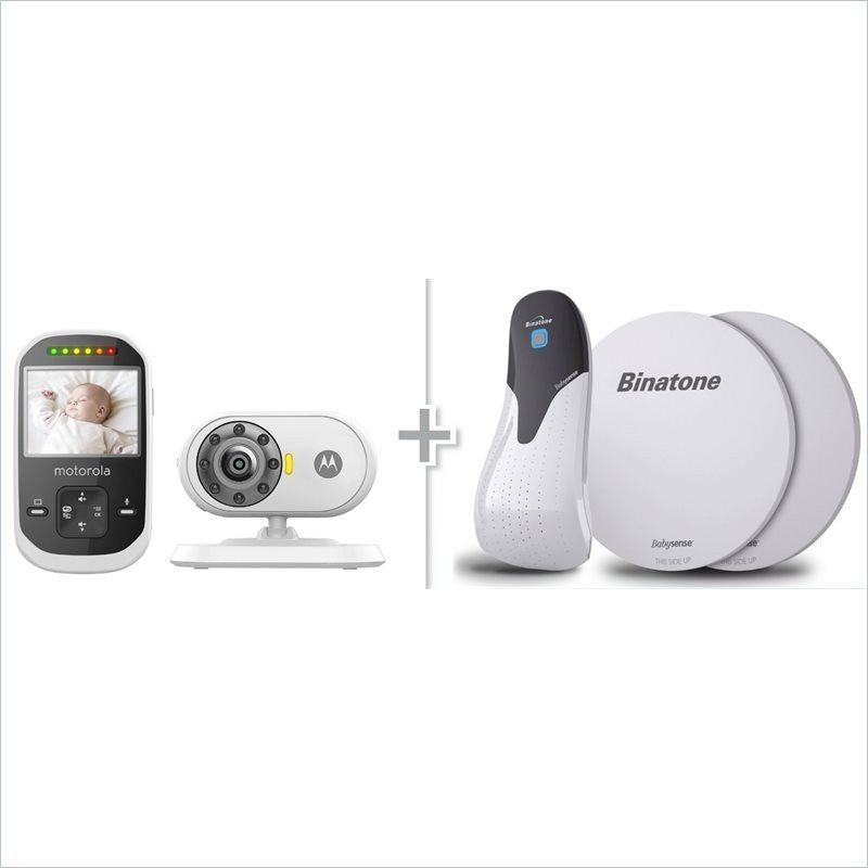 Motorola Video Baby Monitor and Babysense Infant Movement Monitor Set