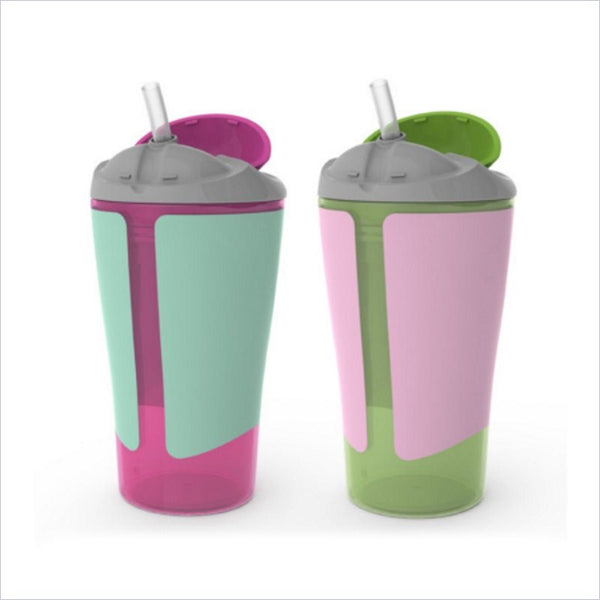 Born Free Grow With Me 10 oz. Straw Cup - Girl(Set of 2)
