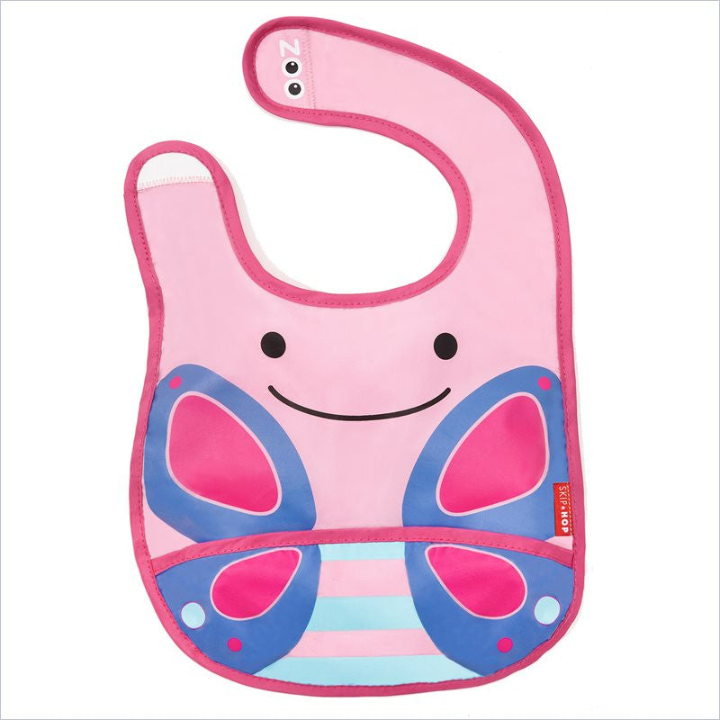 Skip Hop Zoo Tuck-Away Bibs in Butterfly