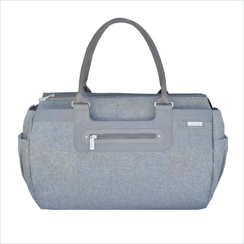 JJ Cole Parker Diaper Bag In Gray Heather