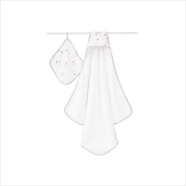 Aden + Anais Classic Hooded Towel and Washcloth Set in Twinkle