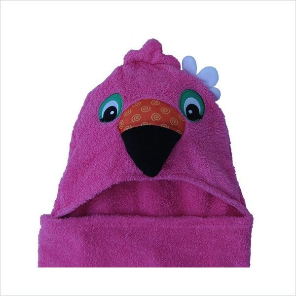 Zoocchini Toddler Hooded Towel in Franny the Flamingo