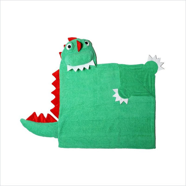 Zoocchini Toddler Hooded Towel in Devin the Dinosaur