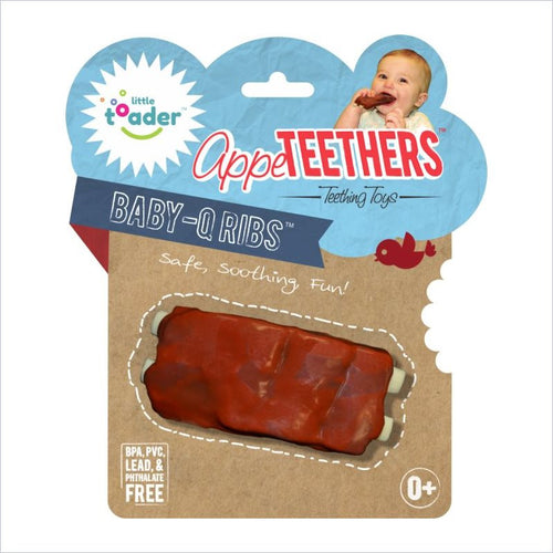 Little Toader AppeTeethers in Baby-O Ribs