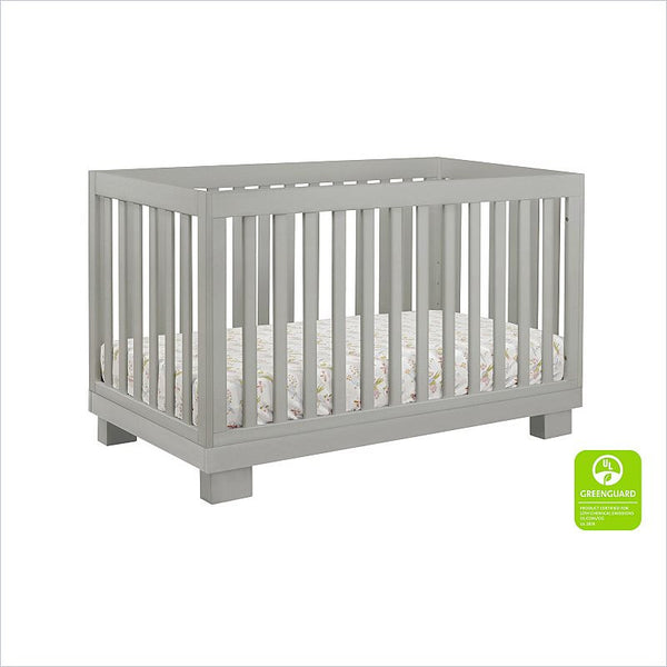 Babyletto Modo 3 in 1 Convertible Wood Crib with Toddler Rail in Grey
