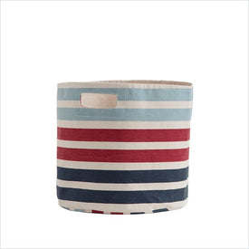 Pehr 3 Stripe Bin in Blue