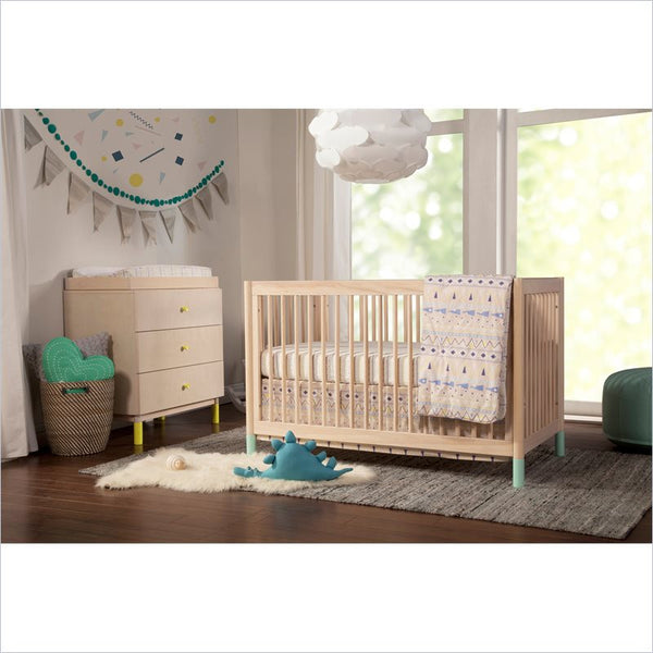 Babyletto Gelato 4-in-1 Convertible Crib and Dresser Set in Washed Natural