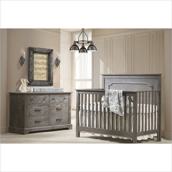 Nest Emerson 4-in-1 Convertible Crib with Wood Panel