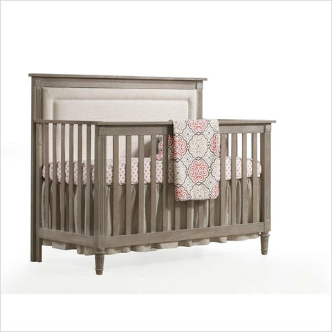 Nest Provence ''4-in-1'' Convertible Crib with Upholstered Panel Fog