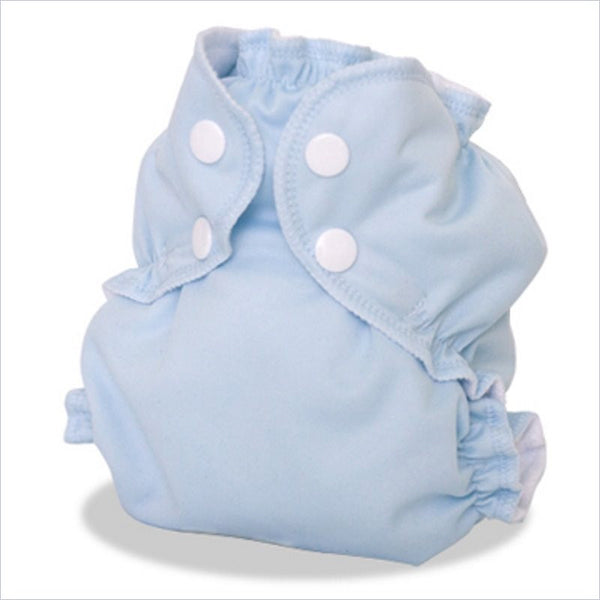 AppleCheeks Little Bundle Cloth Diaper with Bamboo Inserts in Forget-Me-Not