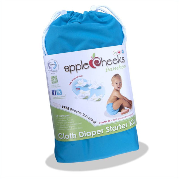 AppleCheeks Bamboo Cloth Diaper Starter Kit