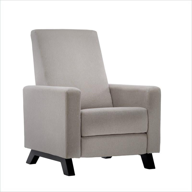 Dutailier Classico Comfort Recliner with Footrest with Espresso Legs