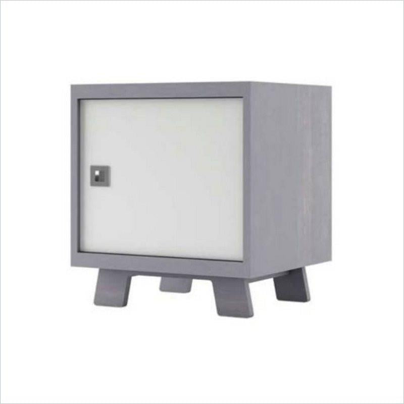 Dutailier Pomelo Night Stand in Grey and White