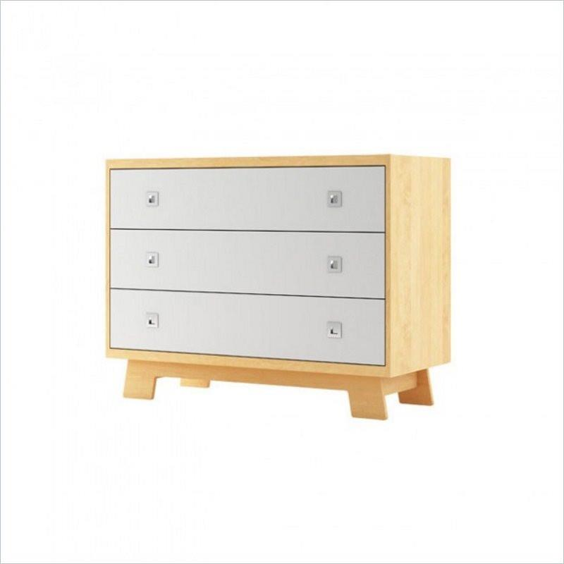 Dutailier Pomelo 3 Drawer Dresser in White and Natural
