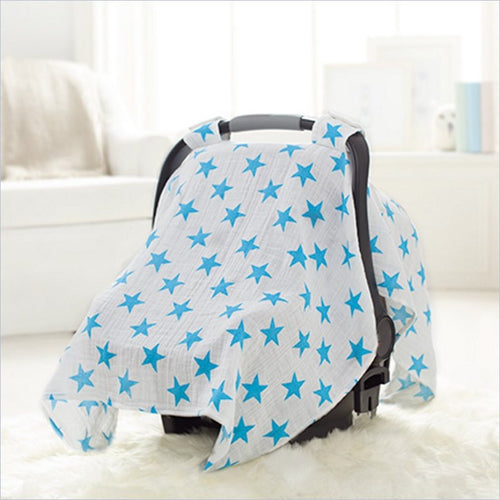 Aden + Anais Car Seat Canopy in Fluro Blue