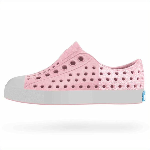 Native Shoes Jefferson Glitter Junior Princess Pink And Pigeon Grey