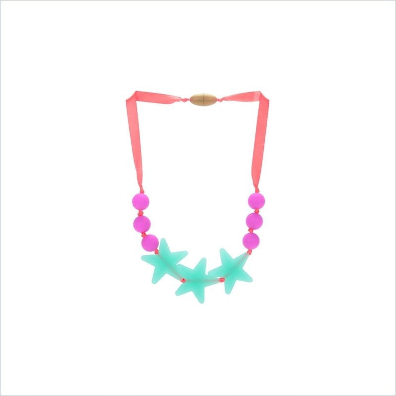 Chewbeads Juniorbeads Broadway Star Necklace in Spearmint