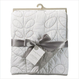 Living Textiles Hayden Cotton Poplin Quilted Comforter in White and Grey