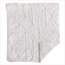 Living Textiles Willow Jersey Pintuck Comforter in White