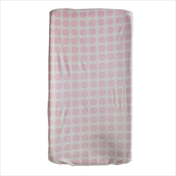 Living Textiles Change Pad Cover in Pink Mod Dot