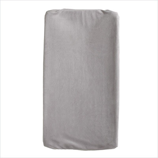 Living Textiles Change Pad Cover in Solid Grey