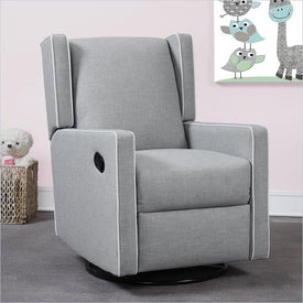 Baby Knightly Everston Swivel Reclining Glider in Gray
