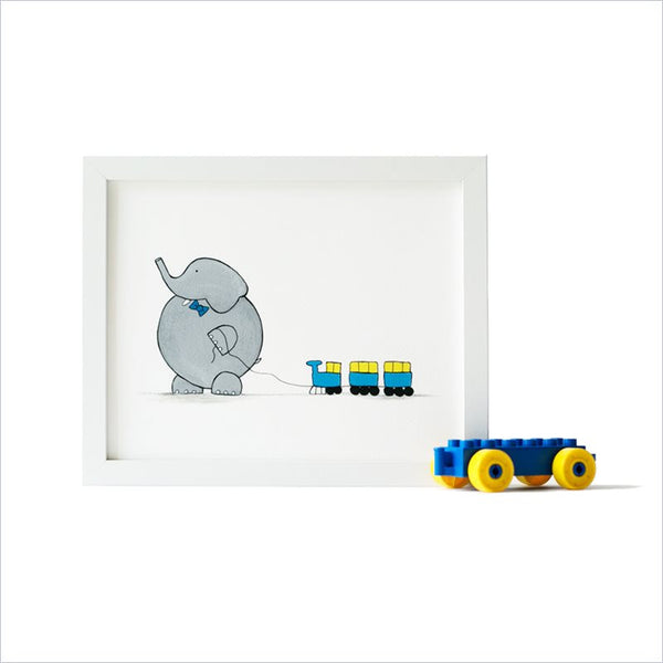 Shenasi Concept Elephant With Train Print