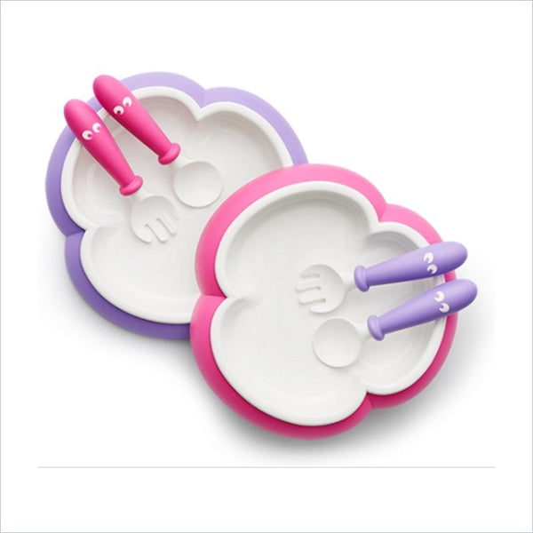 Babybjörn Plate Spoon and Fork In Pink and Purple (2 Pack)