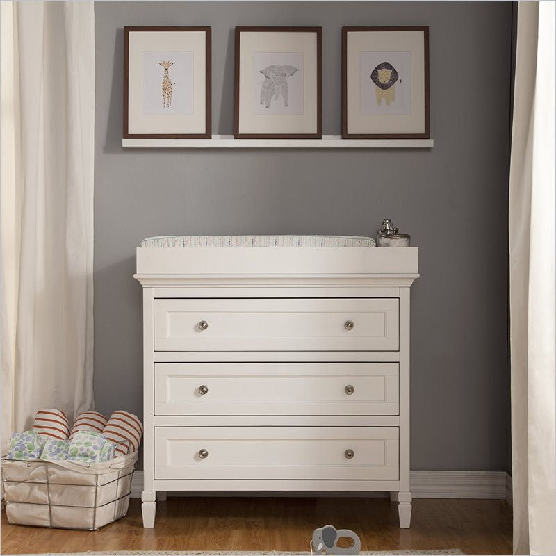Da Vinci Perse 3-Drawer Dresser Changing Table in White