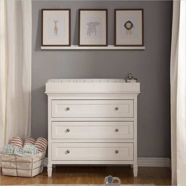 Da Vinci Perse 3-Drawer Dresser in White