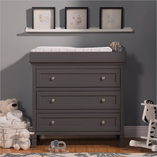Da Vinci Perse 3-Drawer Dresser in Slate
