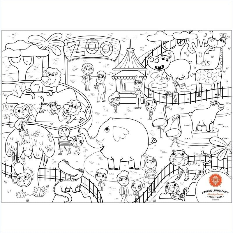 Prince Lionheart Color Draw Mat In Zoo Lusso Kids Inc