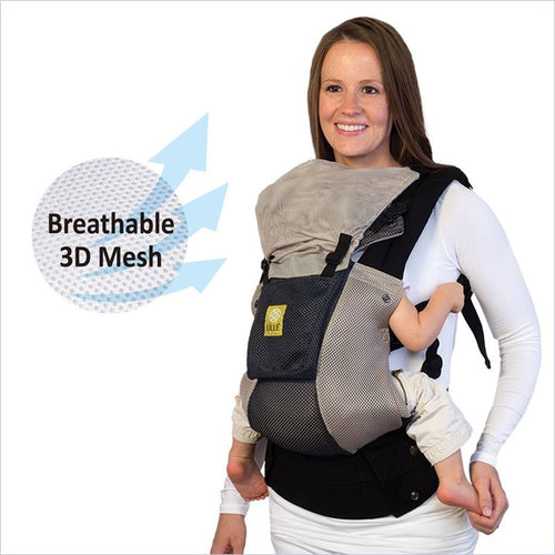 Lillebaby Airflow Carrier in Charcoal with Pocket