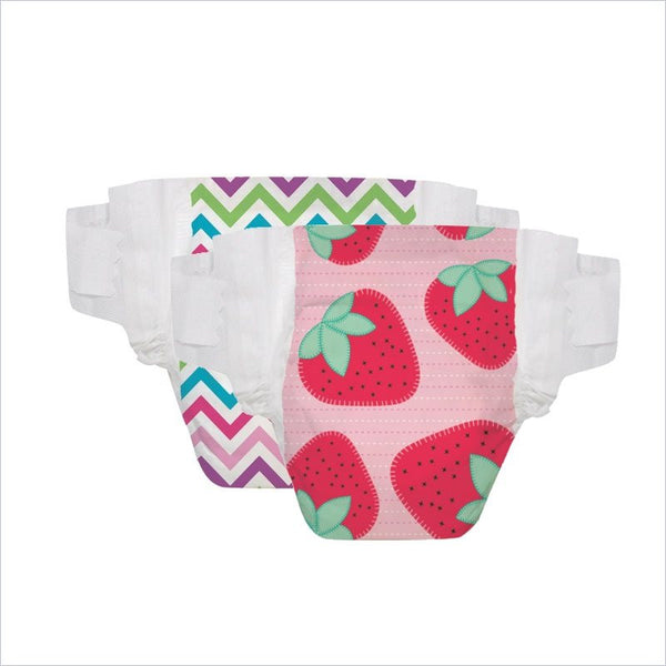 The Honest Company Diapers in Diapers Strawberries and Chevron Size 3M