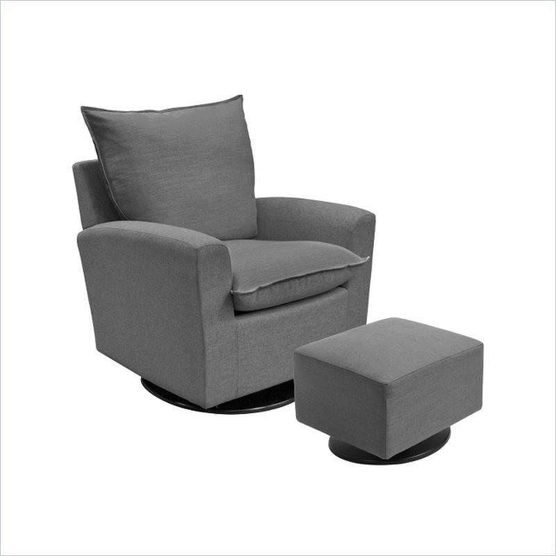 Dutailier Moderno Capuccino Glider Swivel in Gray