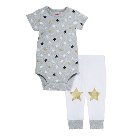 Skip Hop Star Struck Short Sleeve Bodysuit & Pant Set in Stars