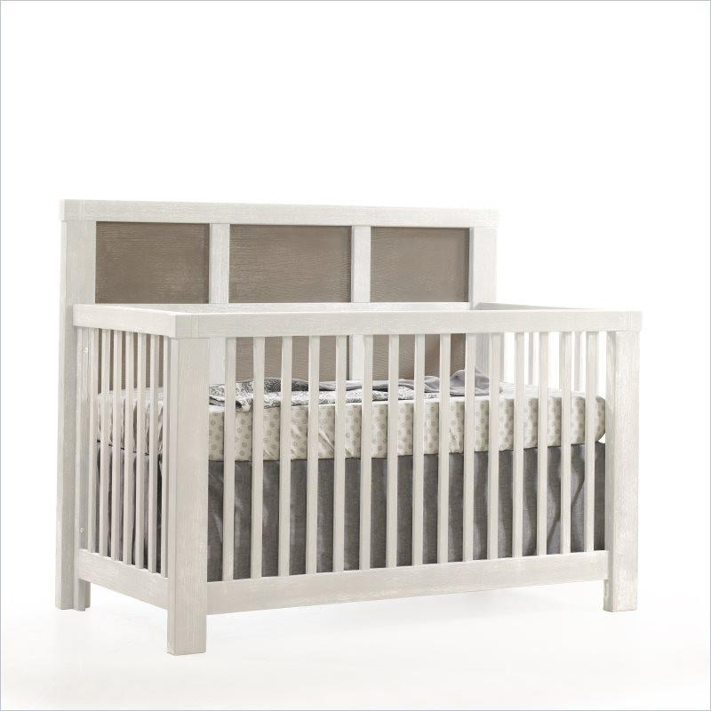 Natart Rustico Moderno 4-in-1 Convertible Crib in White and Owl
