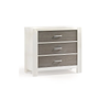 Natart Rustico Moderno 3 Drawer Dresser in White Owl
