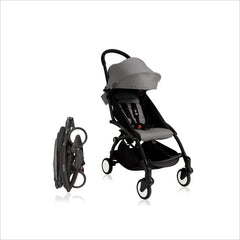 Babyzen YOYO+ Stroller with Black Frame in Grey