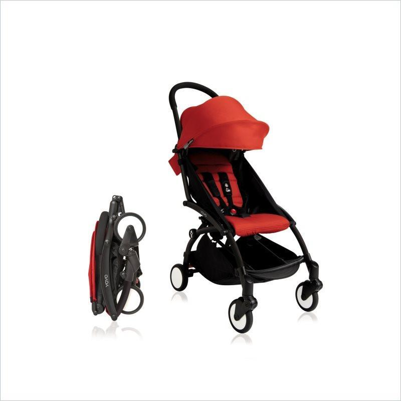 Babyzen YOYO+ Stroller with Black Frame in Red