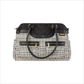 JJ Cole Satchel Diaper Bag in Black and Cream
