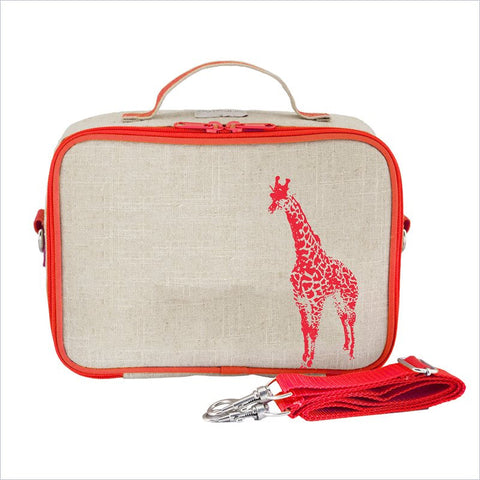SoYoung Neon Orange Giraffe Lunch Box Uncoated Linen