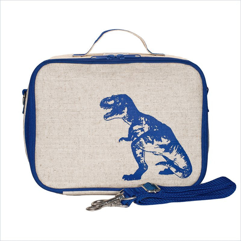 SoYoung Blue Dinosaur Lunch Box Uncoated Linen