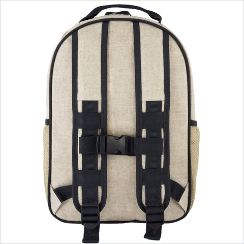 SoYoung Grey Robot Toddler Backpack Uncoated Linen