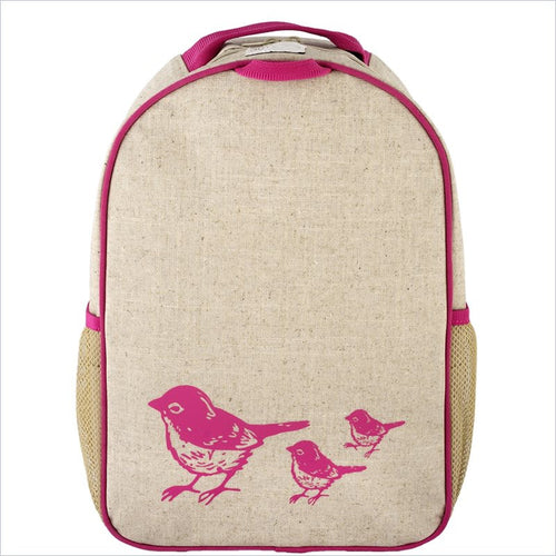 SoYoung Pink Birds Toddler Backpack Uncoated Linen