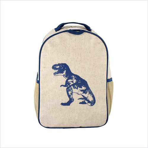 SoYoung Blue Dinosaur Toddler Backpack Uncoated Linen