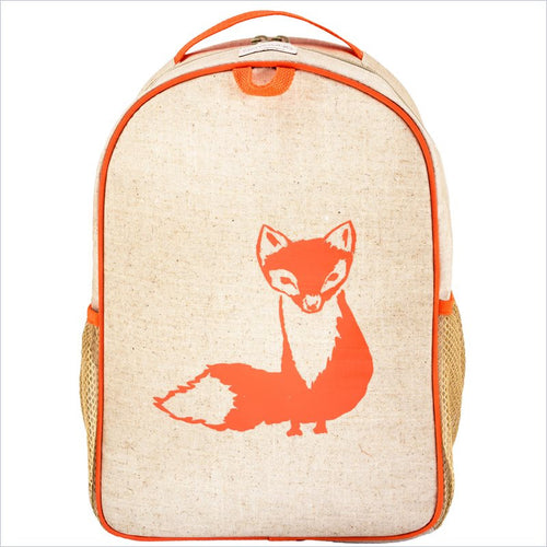 SoYoung Orange Fox Toddler Backpack Uncoated Linen